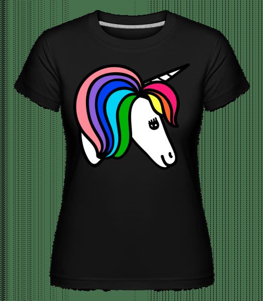 Unicorn Rainbow - Shirtinator Frauen T-Shirt - Schwarz - Vorn