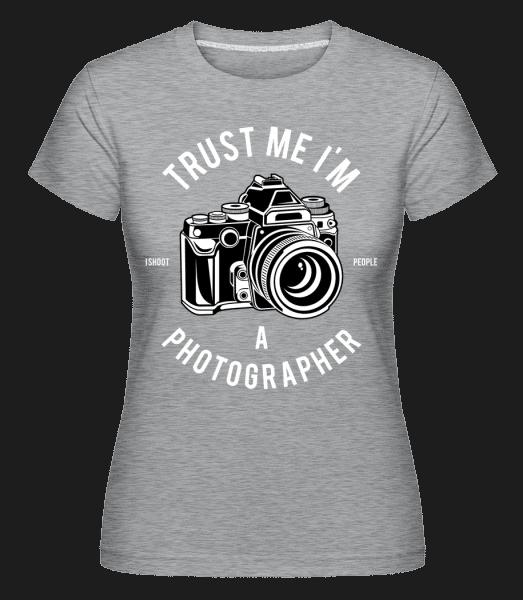 Photographer -  Shirtinator Women's T-Shirt - Heather grey - Vorn