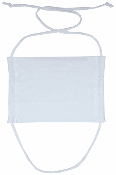 Mouth and Nose Mask - White - Front