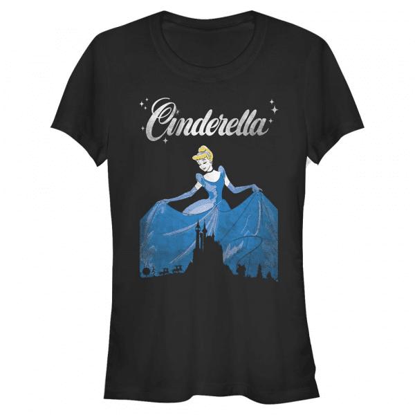 Dancing Cinderella - Disney - Women's T-Shirt - Black - Front