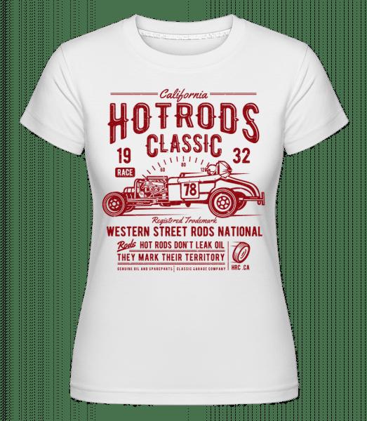 Hot Rods Race Classic -  Shirtinator Women's T-Shirt - White - Front