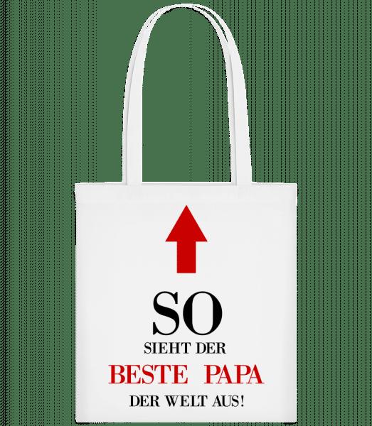 Der Beste Papa Der Welt - Stoffbeutel - Weiß - Vorn