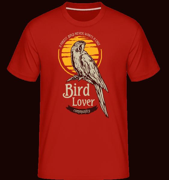 Tropical Bird -  Shirtinator Men's T-Shirt - Red - Vorn