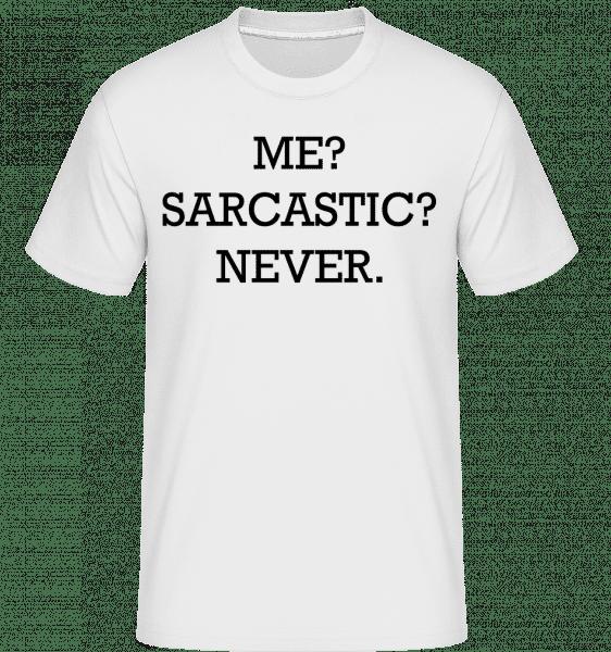 Sarcastic Me -  Shirtinator Men's T-Shirt - White - Vorn