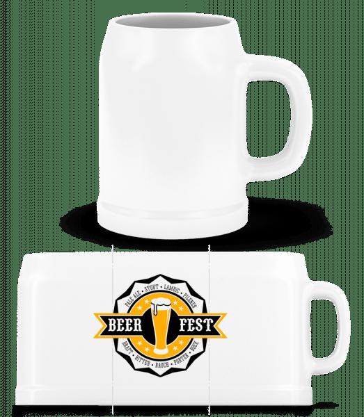 Beer Fest - Beer Mug - White - Vorn