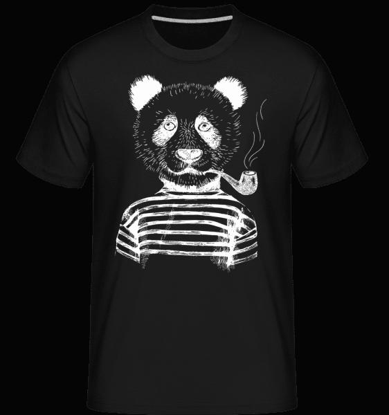 Hipster Panda -  Shirtinator tričko pro pány - Černá - Napřed