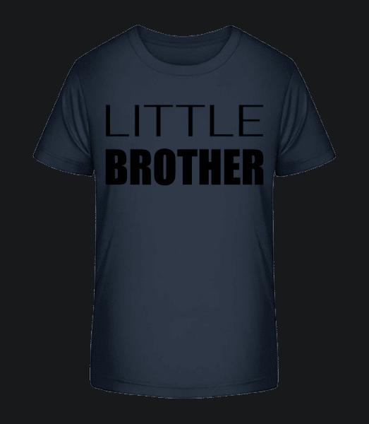 Little Brother - Detské Premium Bio tričko - Namořnická modrá - Napřed