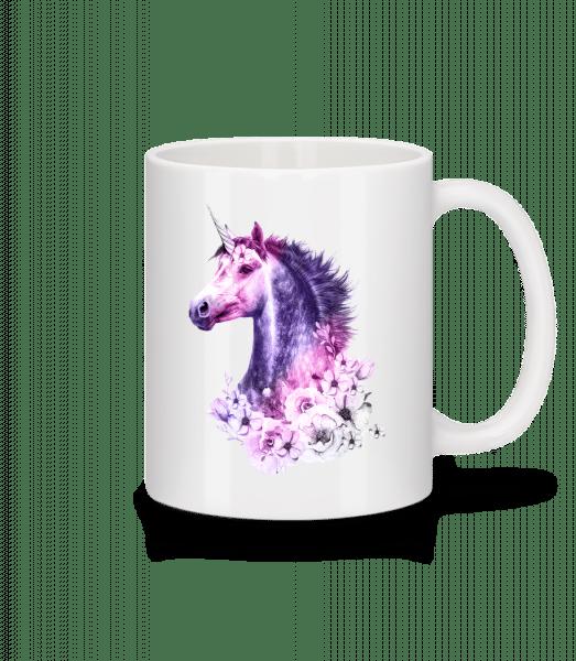Flowers Unicorn - Mug - White - Vorn