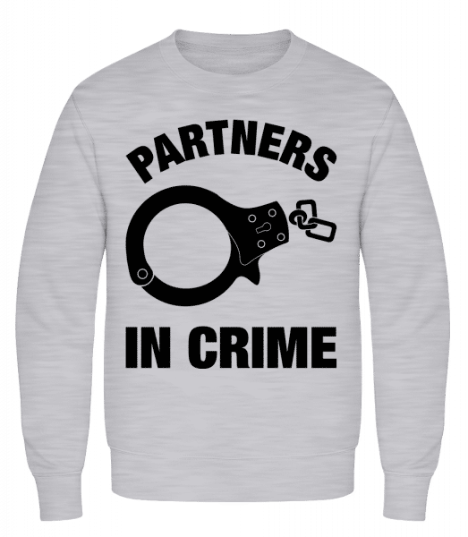 Partner in crime - Men's Sweatshirt AWDis - Heather grey - Front