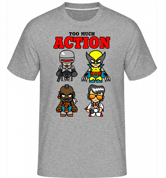 Action -  Shirtinator Men's T-Shirt - Heather grey - Front