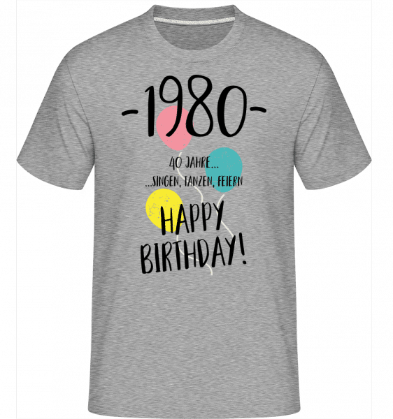 1980 40 years -  Shirtinator Men's T-Shirt - Heather grey - Front