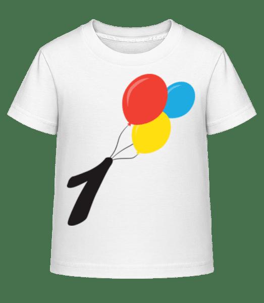 Anniversary 1 Balloons - Kid's Shirtinator T-Shirt - White - Front