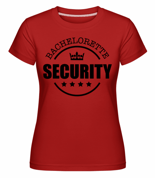 Bachelorette Security -  Shirtinator Women's T-Shirt - Red - Vorn