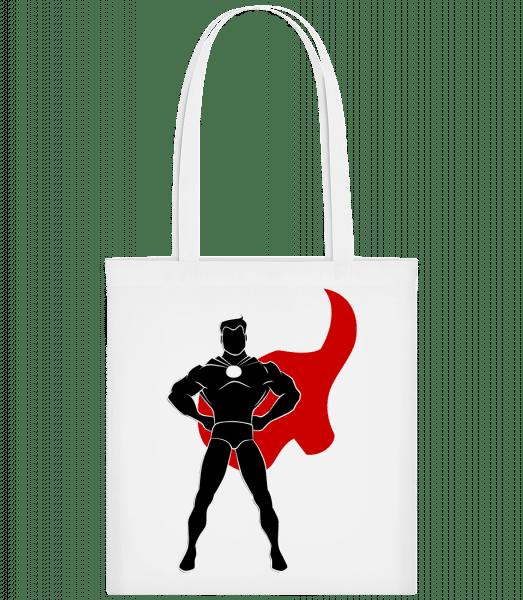 Superhero Standing - Carrier Bag - White - Vorn