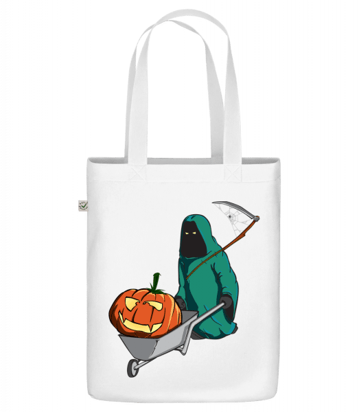 "Halloween Grim Reaper - Organic ""Earth Positive"" tote bag - White - Vorn"