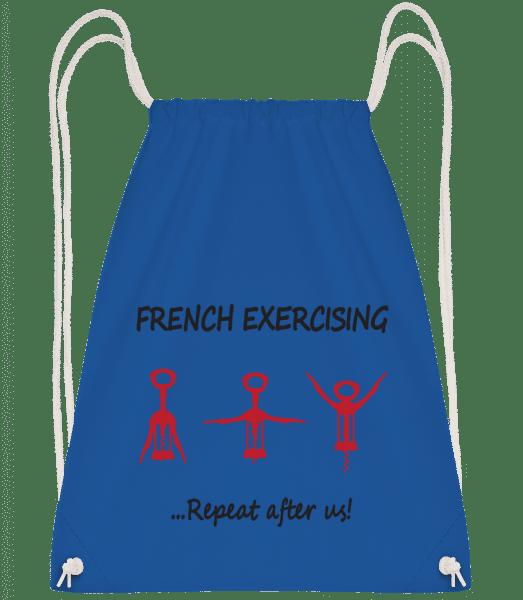 French Exercising - Drawstring Backpack - Royal blue - Vorn