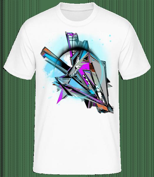 Graffiti Géométrique - T-shirt standard homme - Blanc - Vorn