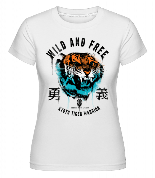 Wild And Free Tiger -  Shirtinator Women's T-Shirt - White - Vorn