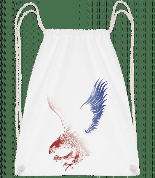 American Eagle - Drawstring Backpack - White - Vorn