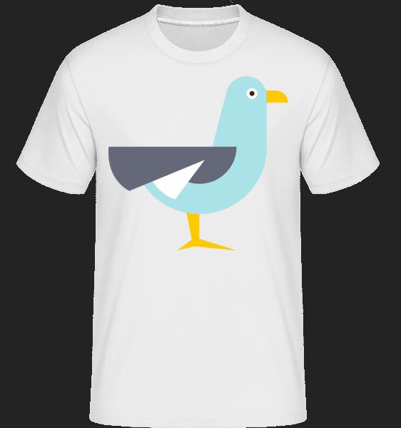 Taube Comic - Shirtinator Männer T-Shirt - Weiß - Vorn
