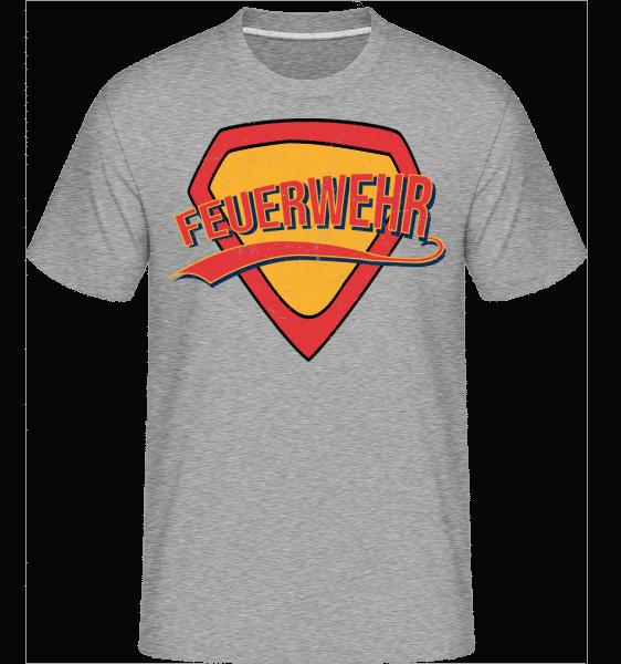 Superhelden Feuerwehr - Shirtinator Männer T-Shirt - Grau meliert - Vorn