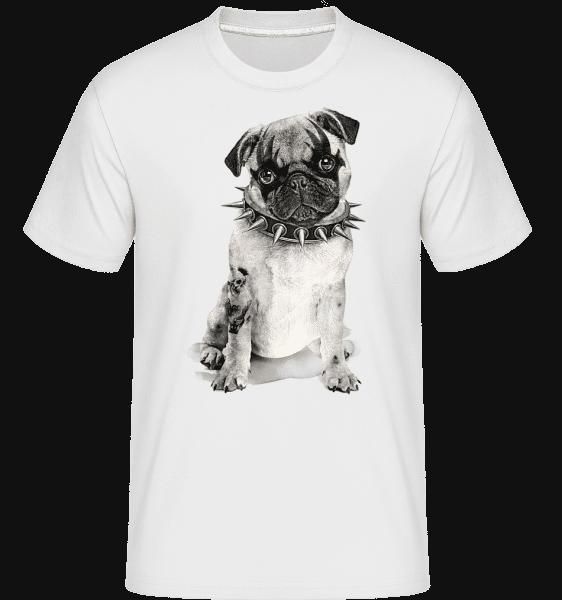 Metal Dog -  Shirtinator Men's T-Shirt - White - Vorn