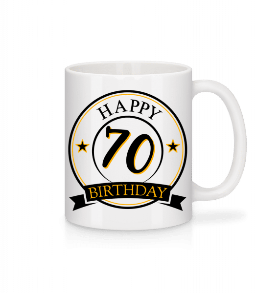 Happy Birthday 70 - Tasse - Weiß - Vorn