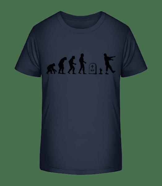 Halloween Evolution - Kid's Premium Bio T-Shirt - Navy - Vorn