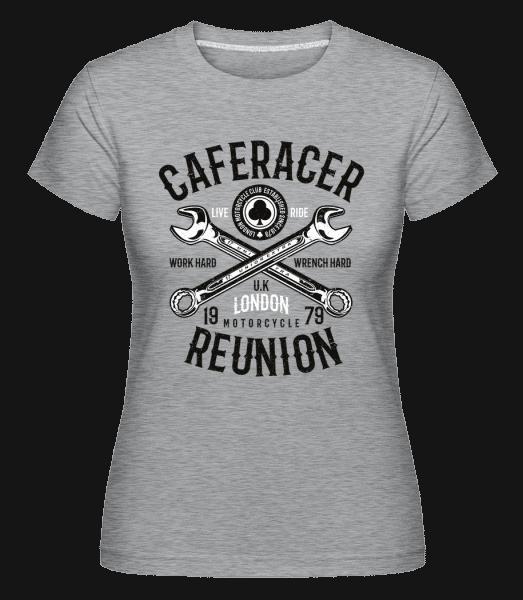 Caferacer Reunion -  Shirtinator Women's T-Shirt - Heather grey - Vorn