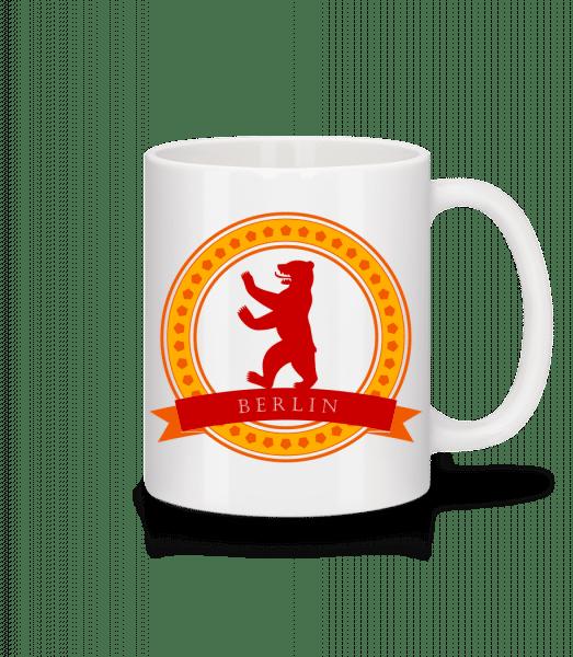 Berlin Bear Icon - Mug - White - Vorn