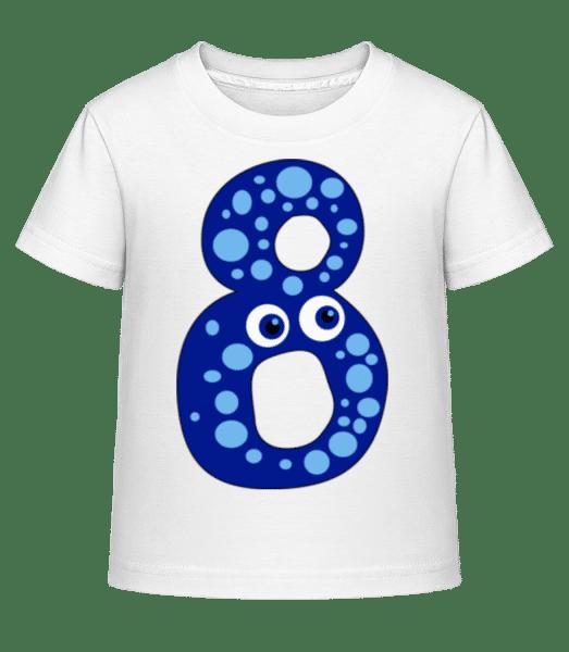 Funny Eight - Kid's Shirtinator T-Shirt - White - Front