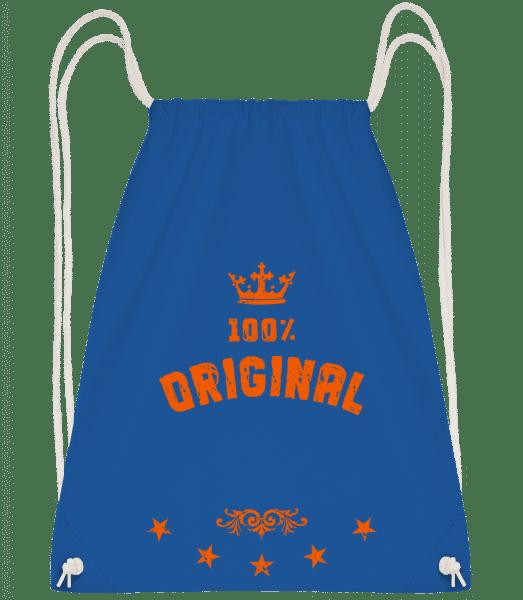 100% Original - Drawstring Backpack - Royal Blue - Vorn
