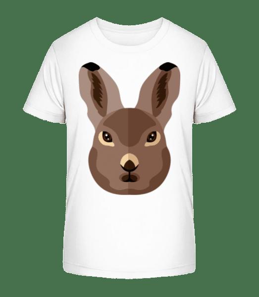 Bunny Comic Shadow - Kid's Premium Bio T-Shirt - White - Vorn