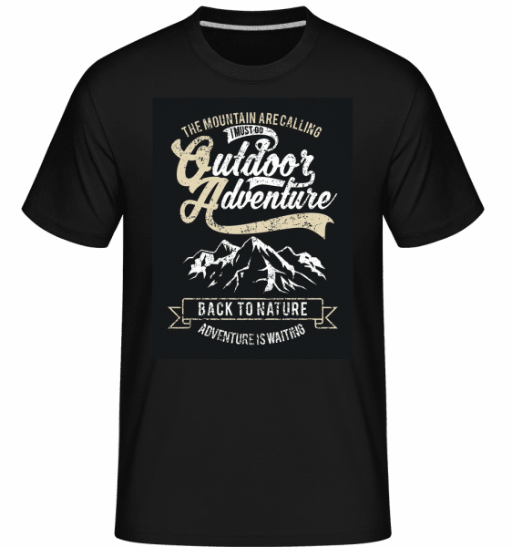 Outdoor Adventure -  Shirtinator Men's T-Shirt - Black - Front