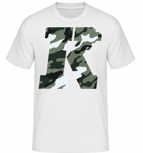 King Camouflage -  Shirtinator Men's T-Shirt - White - Vorn