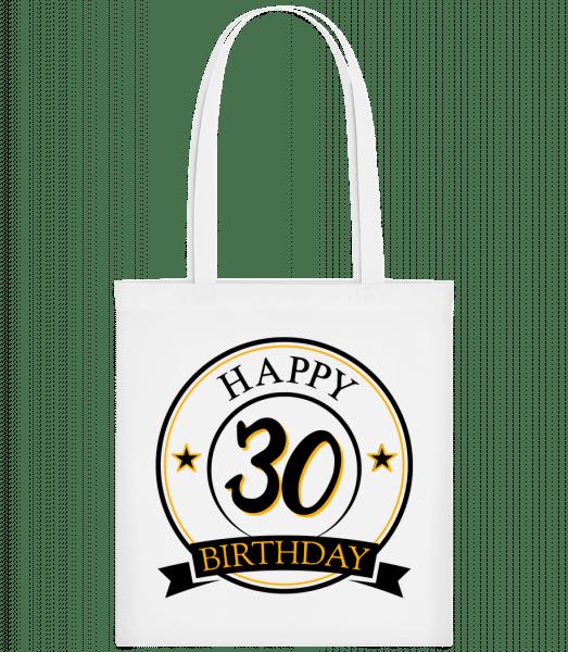 Happy Birthday 30 - Carrier Bag - White - Vorn
