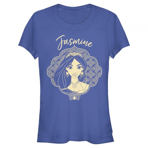 Jasmine Portrait - Disney Aladdin - Women's T-Shirt - Royal blue - Front