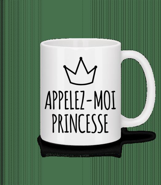 Appelez-Moi Princesse - Mug en céramique blanc - Blanc - Vorn