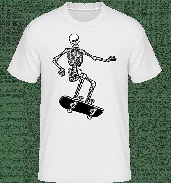 Skull Skateboard -  Shirtinator Men's T-Shirt - White - Front