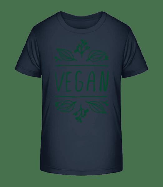 Vegan Sign - Kid's Premium Bio T-Shirt - Navy - Vorn