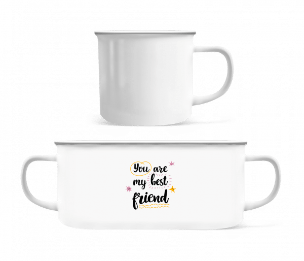 You Are My Best Friend - Enamel-cup - White - Vorn