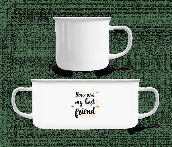 You Are My Best Friend - Emaille-Tasse - Weiß - Vorn