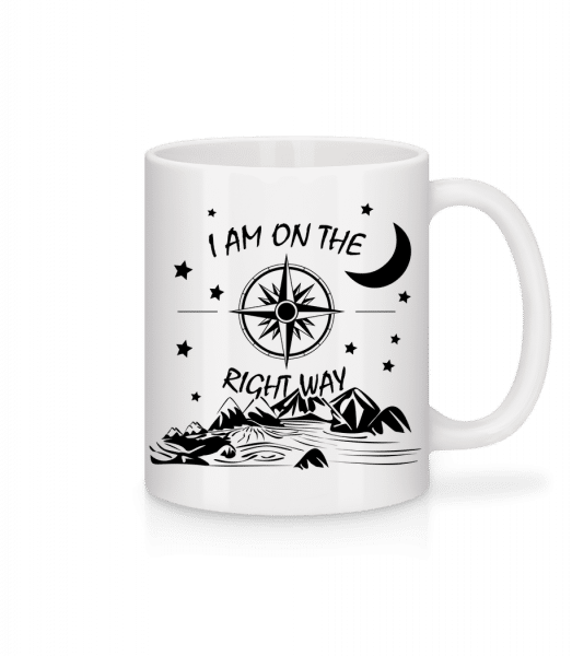 I Am On The Right Way - Mug - White - Front