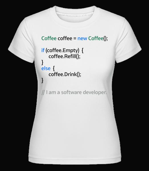 Coffee Loop -  Shirtinator Women's T-Shirt - White - Vorn