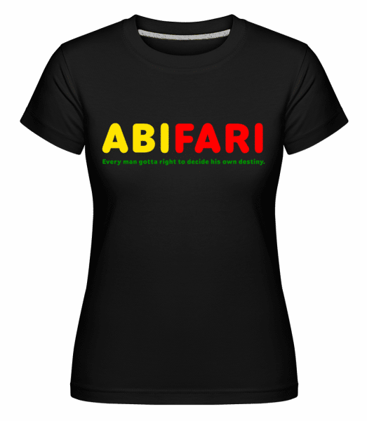 Abifari - Shirtinator Frauen T-Shirt - Schwarz - Vorn