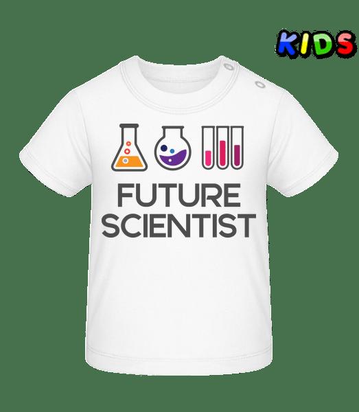 Future Scientist - Baby T-Shirt - White - Vorn