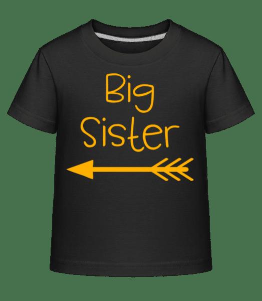 Big Sister - Kinder Shirtinator T-Shirt - Schwarz - Vorn