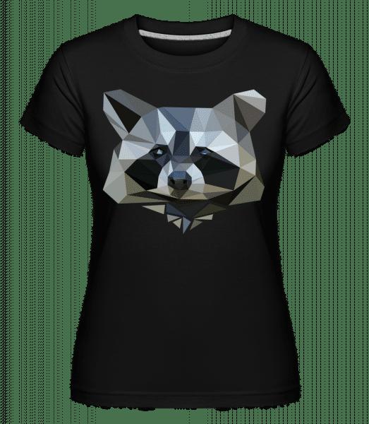 polygón racoon -  Shirtinator tričko pre dámy - Čierna1 - Predné
