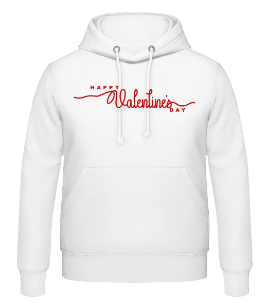 Happy Valentines Day - Men's Hoodie - White - Vorn