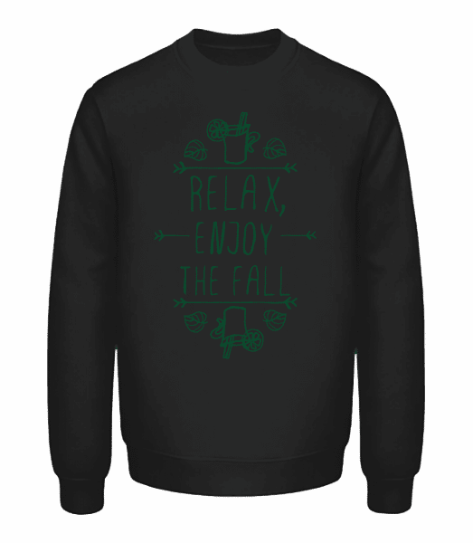 Relax, Enjoy The Fall - Unisex Sweatshirt - Black - Vorn